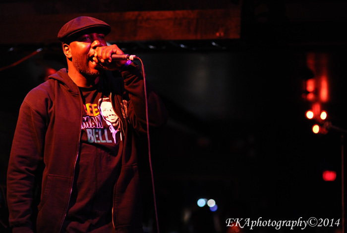 Jahi performing at the New Parish, August 2014