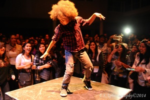 A young hip-hop dancer at YBCA