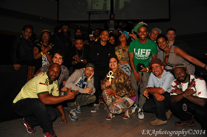 """The """"Clas/Sick"""" Crew chilling after the show"""