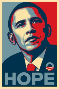 "Shepard Fairey's ""Hope"""