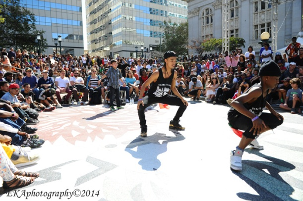 Turf Inc. dancers at Art & Soul Festival