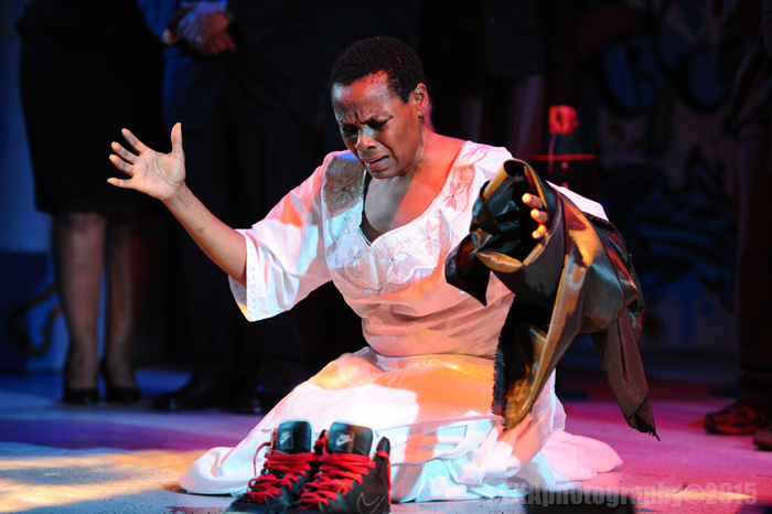 "As the ""spirit,"" Awele Makeba grounds ""Xtigone"" in ritual"