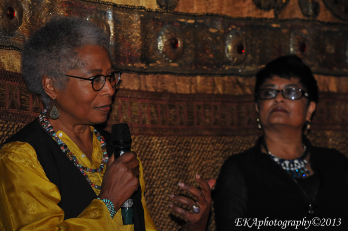 Alice Walker (l.) with filmmaker Pratibha Parmar (r.)