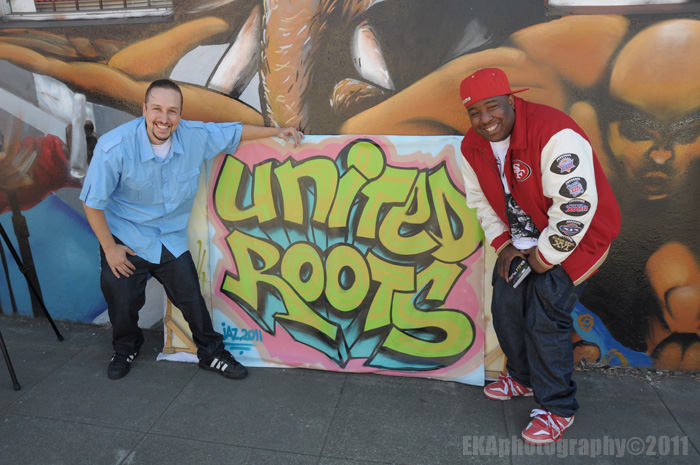 The Jacka (r.) with United Roots' Galen Slyvestri (l.)