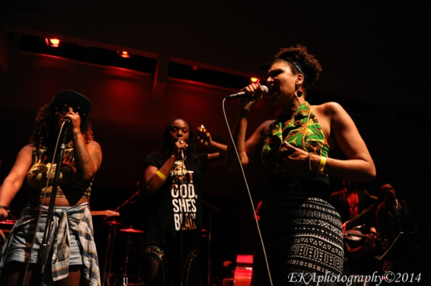 "Coco Peila (r.) is featured at Youth Radio's ""Remix Your Life"" showcase"
