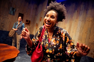 "Lauren Spencer and Safiya Fredericks in ""Blackademics."" photo courtesy Crowded Fire Theater"
