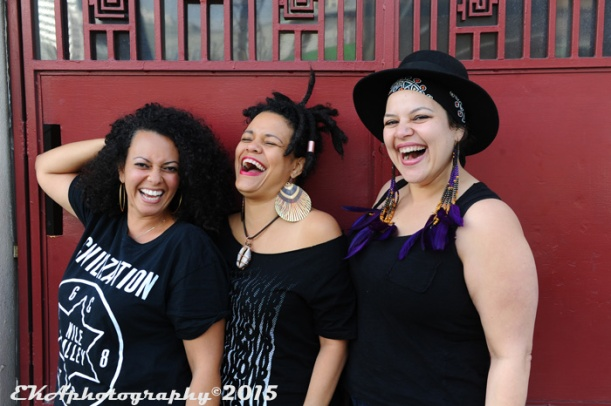 The women of Soulovely: Emancipation, Aima, Lady Ryan.