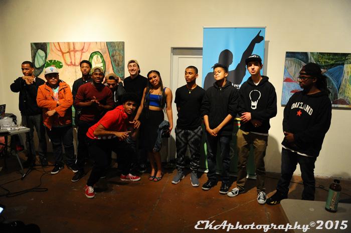 MC Olympics participants at Betti Ono Gallery