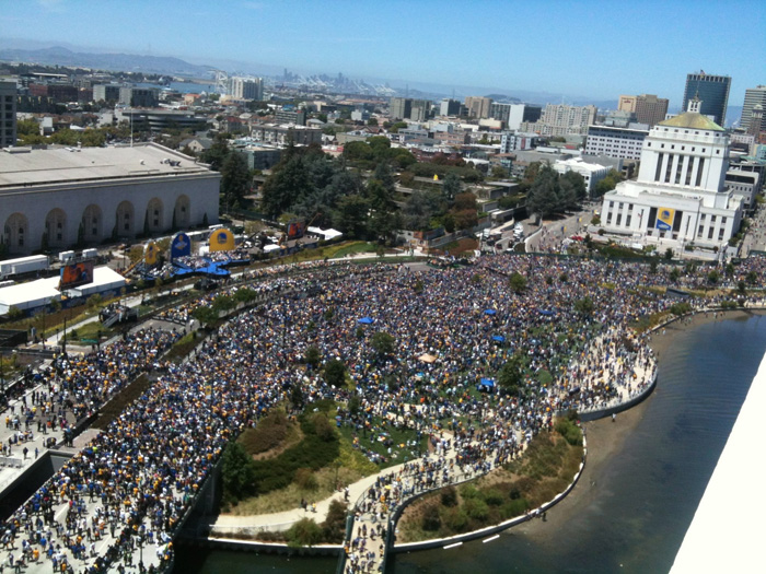 This is what 1.1 million people look like