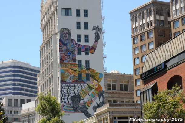Zio Zieglar's recent mural commenorating the 70yh anniversary of the UN charter in downtown Oakland