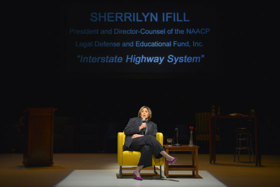 Anna deavere Smith as NAACP lawyer Sherrilyn Ifill