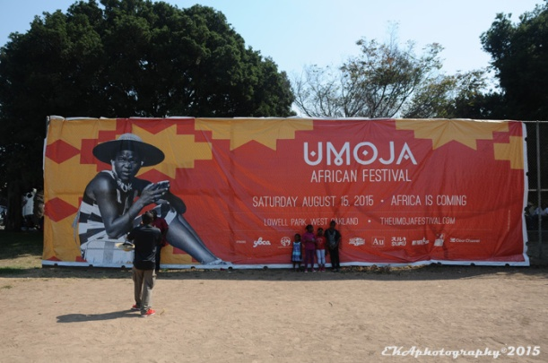 The large Umoja banner became a photo opp backdrop