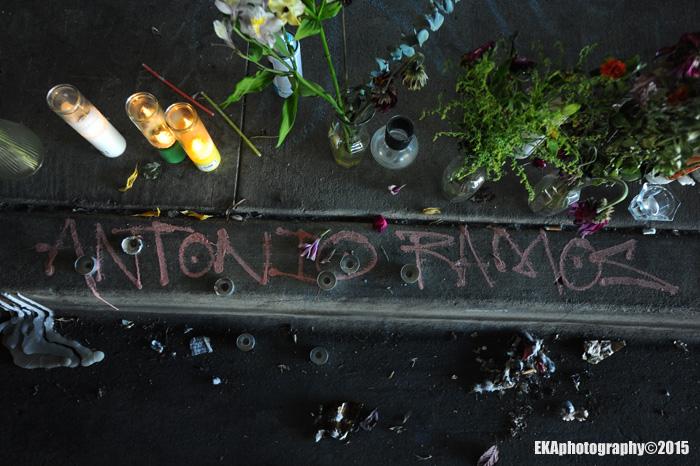 Antonio Ramos dedication at mural site